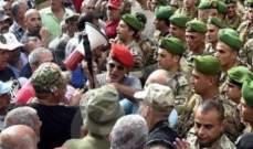 المسرحون من الدفاع المدني انضموا الى العسكريين المتقعادين أمام مبنى الـTVA