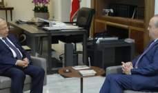 الرئيس عون استقبل رئيس حزب التوحيد العربي وئام وهاب في قصر بعبدا