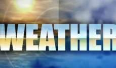 الطقس غداً قليل الغيوم مع رياح ناشطة وانخفاض بدرجات الحرارة