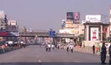 تنظيف الطرقات في جل الديب وسط غياب للمتظاهرين