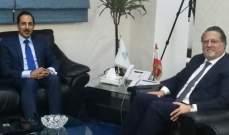 شقير عرض مع سفير لبنان في غانا مجالات التعاون وتوقيع اتفاقية مع غرفة بيروت