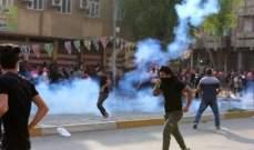 محتجونقطعواعددا من الطرق الرئيسية والتجارية وسط مدينة كربلاء جنوبي العراق