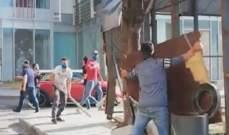أعمال شغب على الطريق المؤدية من وسط بيروت باتجاه الحمرا