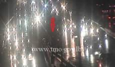 حركة مرور كثيفة أول جسر الدورة المسلك الشرقي بسبب حادث تصادم