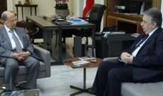الرئيس عون بحث مع ناجي البستاني التطورات المحلية اضافة لحاجات منطقة الشوف