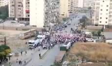مسيرة راجلة ووقفة احتجاجية لأهالي جبل محسن