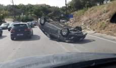 النشرة: حادث سير قرب مركز الدفاع المدني في جعيتا
