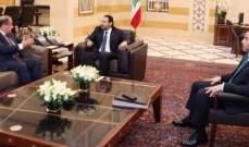 الحريري إستقبل عربيد والكعكي ووفدا من الاتحاد اللبناني لكرة القدم