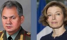 شويغو وبارلي يبحثان التعاون العسكري الروسي-الفرنسي