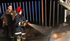 إخماد حريق داخل سيارة رباعية الدفع في ساحل علما