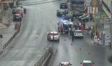 حادث صدم على الطريق الممتدة من انطلياس الساحة باتجاه الاوتوستراد