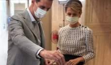 الأسد وزوجته أدليا بصوتيهما في انتخابات مجلس الشعب