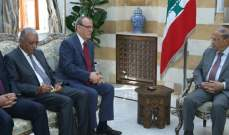 الرئيس عون أكد استعداد لبنان لتفعيل التعاون الصحي بين لبنان والعراق