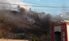 حريق في القليعة بمرجعيون ومتطوعو الدفاع المدني يعملون على تطويقه