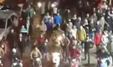 مسيرات جابت طرابلس تضامنًا مع المتظاهرين في بعلبك وصور وبعبدا