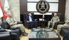 قائد الجيش عرض مع سفير بريطانيا الاوضاع العامة في لبنان والمنطقة