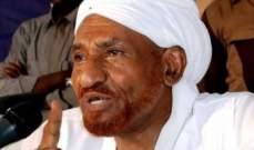 الصادق المهدي: لن أقبل بأي منصب في المرحلة الإنتقالية ولن أترشح للانتخابات السودانية