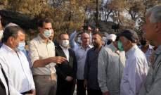 الأسد جال على المناطق التي طالتها الحرائق: سندعم العائلات التي فقدت الموارد