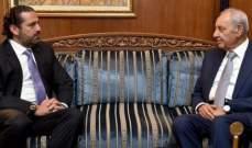 بري: أنا مع إعادة تكليف الحريري لرئاسة الحكومة