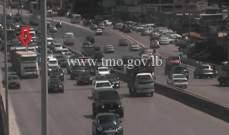 التحكم المروري: تعطل شاحنة على اوتوستراد انطلياس وحركة المرور كثيفة