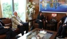 عباس ابراهيم التقى روزماري ديكارلو وبحث معها الاوضاع العامة