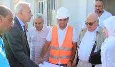بهية الحريري والسعودي تفقدا سير العمل في مرفأ صيدا الجديد