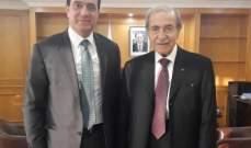 الخليل تابع مع وزير الاشغال حاجات قضاء حاصبيا الانمائية