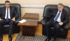 المهتار التقى مسؤولين في الخارجية الروسية: لدعم مساعي اعادة النازحين