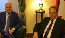 ميخائيل بوغدانوف بحث مع جورج شعبان الأوضاع الراهنة في لبنان