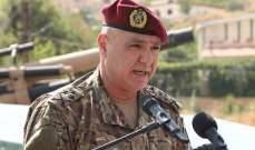 قائد الجيش: لسنا مع فريق ضد آخر ولن نكون وأولويتنا حماية السلم الأهلي والاستقرار