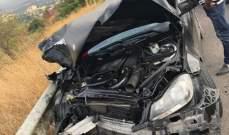 جريحان في تصادم بين سيارتين على طريق رشدبين كوسبا