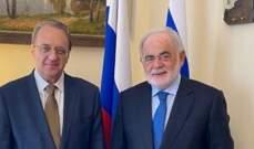 بوغدانوف التقى ابو زيد وأكّدا على أهمية مواصلة الجهود لتشكيل الحكومة