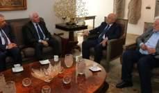 الأحمد بحث مع العريضي الاوضاع في الاراضي الفلسطينية