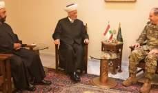 دريان اطلع من الأسمر على الإجراءات التي أقرتها اللجنة الوطنية لإدارة الكوارث