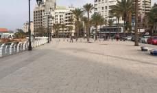 بلدية بيروت: فوج حرس بيروت أخلى الكورنيش البحري