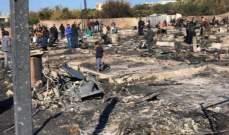 بدء مسح أضرار مخيم بحنين وتوافد المساعدات