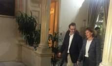 وصول شينكرترافقه ريتشاردالى وزارة الخارجية للقاء باسيل