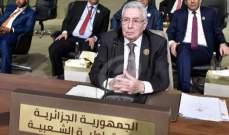 رئيس الجزائر المؤقت: الانتخابات الرئاسية تبقى الحل الديمقراطي الوحيد
