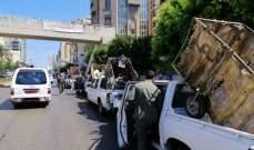 فوج حرس بيروت أزال تعديات على الملك العام و وصادر عربات للخردة
