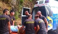 إنقاذ مواطن سقط عن مرتفع شاهق في ملتقى وادي النهرين يحشوش