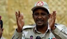 حميدتي: يجب تحويل السودان إلى دولة قانون ومحاسبة أي متورط بالفساد