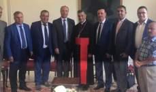 البطريرك الراعي إستقبل مجلس بلدية حملايا ووفدا من مجلس المرأة العربية