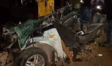 5 جرحى بحادث سير مروع على طريق الرفيد البقاع الغربي
