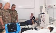 قائد الجيش: لن نسمح بالمس بصحة العسكريين أو عائلاتهم