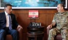 اللواء إبراهيم بحث مع أمين عام المجلس الأعلى للدفاع شؤوناً أمنية مشتركة