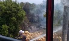 إخماد حريق كبير في أحراج بلدة دده في الكورة
