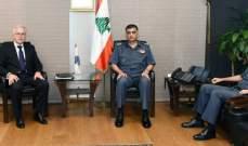 اللواء عثمان عرض مع خطار موضوع تثبيت المتطوعين في ملاك الدفاع المدني
