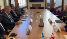 باسيل زار البرلمان الاسكوتلندي والتقى وزير أوروبا والهجرة والتعاون الدولي