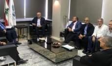 وزير المالية التقى وفداً من نقابات أصحاب الشركات المستوردة للنفط