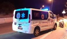 وفاة فتاة في تدهور السيارة واشتعالها على أوتوستراد عمشيت